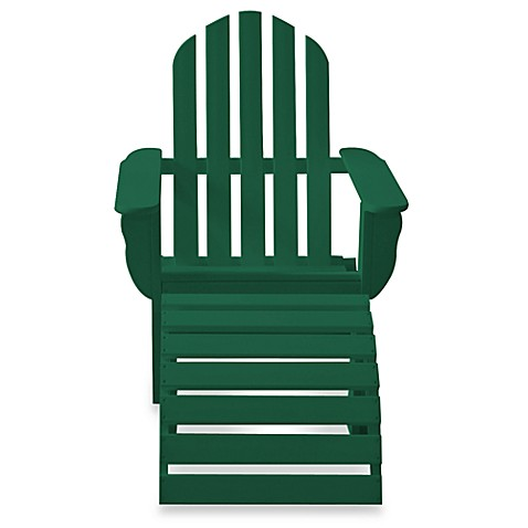 Beachfront Furniture Collection Adirondack Chair in Green