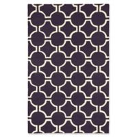 ECARPETGALLERY Kasbah Hand-Tufted 5' x 8' Area Rug in Cream/Violet