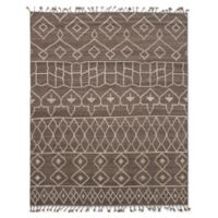 ECARPETGALLERY Tangier Hand-Knotted 8' x 10' Area Rug in Brown/Grey