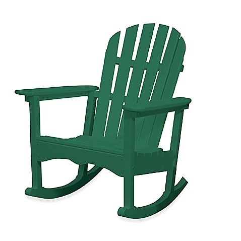 Beachfront Furniture Collection Adirondack Rocking Chair in Green