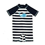 Floatimini Size 3M Whale Scuba Suit in Navy/White