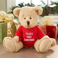 Christmas with this First Christmas Teddy Bear