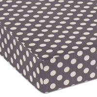 Glenna Jean Fast Track Dot Print Fitted Crib Sheet in Grey