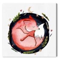 Oliver Gal Sleeping Fox 20-Inch Sq. Canvas Wall Art