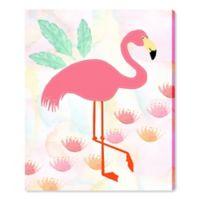 Oliver Gal Aloha Flamingo 20-Inch x 17-Inch Canvas Wall Art