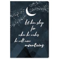 "Oliver Gal Sheep & Moon ""Let Him Sleep"" 15-Inch x 10-Inch Canvas Wall Art"