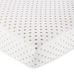 Levtex Baby Aurora Ditsy Diamond Fitted Crib Sheet in Gold/White