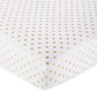 Levtex Baby® Aurora Ditsy Diamond Fitted Crib Sheet in Gold/White