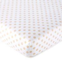 Levtex Baby® Aurora Medallion Print Fitted Crib Sheet in Blush/Gold