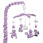 The Peanutshell® Woodland Musical Mobile in Purple