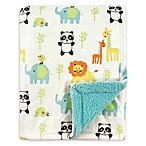 Luvable Friends® Animals Reversible Minky/Sherpa Blanket