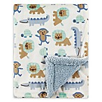 Luvable Friends® Jungle Reversible Minky/Sherpa Blanket