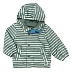 OshKosh B'gosh® Size 3-6M Striped Mesh Hooded Jacket in Grey