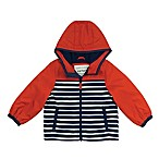 carter's® Size 24M Striped Hooded Jacket in Red/Navy