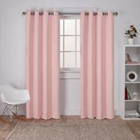 Sateen 84-Inch Grommet Top Room Darkening Window Curtain Panel Pair in Blush