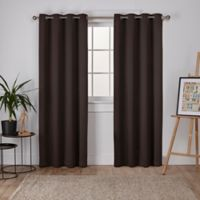 Sateen 63-Inch Grommet Top Room Darkening Window Curtain Panel Pair in Espresso