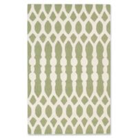 ECARPETGALLERY Kasbah 5' x 8' Handcrafted Area Rug in Cream/Green