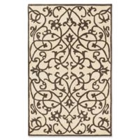 ECARPETGALLERY Abstract 5' x 8' Handcrafted Area Rug in Cream/Olive