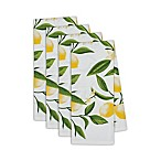 Design Imports Lemon Bliss Printed Kitchen Towels in Yellow (Set of 4)