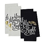 "Design Imports ""Mr. and Mrs."" Kitchen Towels (Set of 4)"