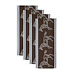 Design Imports Horse Jacquard Kitchen Towels in Brown (Set of 4)