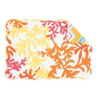 C&F Home Tropical Placemats in Orange (Set of 6)