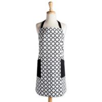 Design Imports Lattice Apron in White