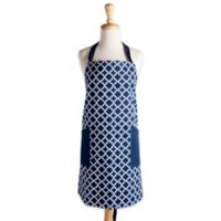 Design Imports Lattice Apron in Blue