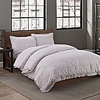 Garment Washed Dot Printed Full/Queen Duvet Cover Set in Taupe