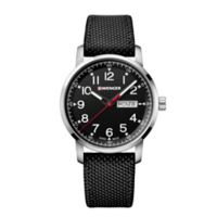 Wenger Attitude Heritage Men's 42mm Stainless Steel Watch with Black Nylon Strap