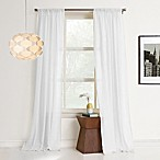 No.918 Heidi 84-Inch Rod Pocket Sheer Window Curtain Panel in White