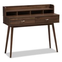 Baxton Studio Disa 2-Drawer Desk in Walnut Brown