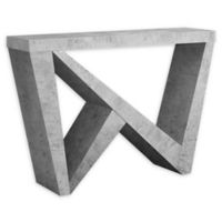 Monarch Specialties Cement-Look Hall Console