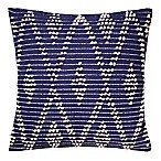Diamond Knotted 20-Inch Square Throw Pillow in Navy