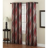 No. 918 Intersect 84-Inch Grommet Top Window Curtain Panel in Paprika
