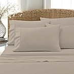 Blissful Living 800-Thread-Count Cotton Rich Solid King Sheet Set in Beige