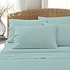 Blissful Living 800-Thread-Count Cotton Rich Solid King Sheet Set in Aqua