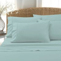 Leanne 800-Thread-Count Cotton Blend Queen Sheet Set in Aqua