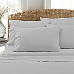 Blissful Living 800-Thread-Count Cotton Rich Solid Queen Sheet Set in Grey