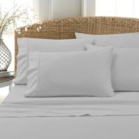 Leanne 800-Thread-Count Cotton Blend Twin Sheet Set in Grey