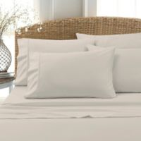 Leanne 800-Thread-Count Cotton Blend Twin Sheet Set in Tan