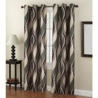 No. 918 Intersect 84-Inch Grommet Top Window Curtain Panel in Spruce