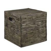 Powell Warner Wooden Crate in Grey