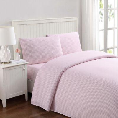 Laura Hart Kids Gingham Queen Sheet Set In Pink