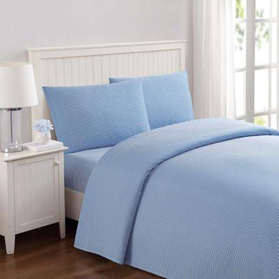 Laura Hart Kids Stripe Queen Sheet Set In Blue