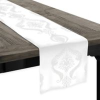Softline Kendra Embroidered 90-Inch Table Runner in White