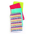 Fiesta® Ribbed Stripe 4-Pack Bar Mop Kitchen Towels in Multi