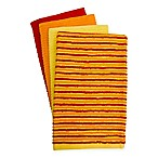 Fiesta® Ribbed Stripe 4-Pack Bar Mop Kitchen Towels in Sunflower