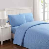Truly Soft Gingham Queen Sheet Set in Blue
