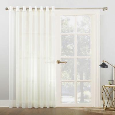918 Emily Voile 84 Inch Grommet Top Sheer Sliding Door Patio Curtain Panel